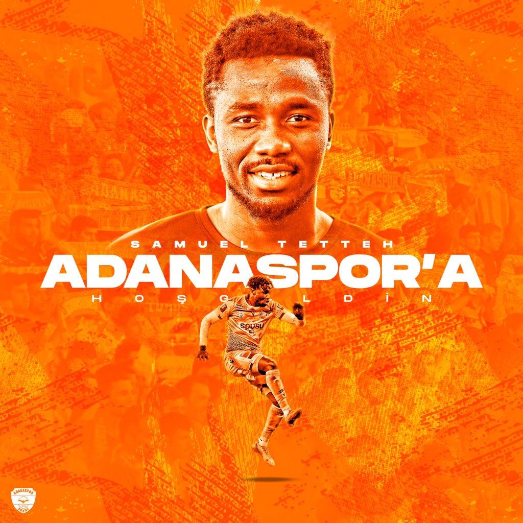 Ghanaian forward Samuel Tetteh signs for Adanaspor AS in Turkey