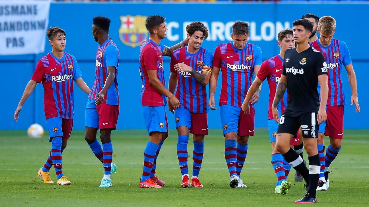 Barca cruise to win in friendly on Manaj hat trick
