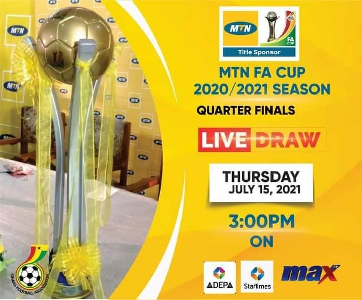 MTN FA Cup: Quarterfinal draw to be held today
