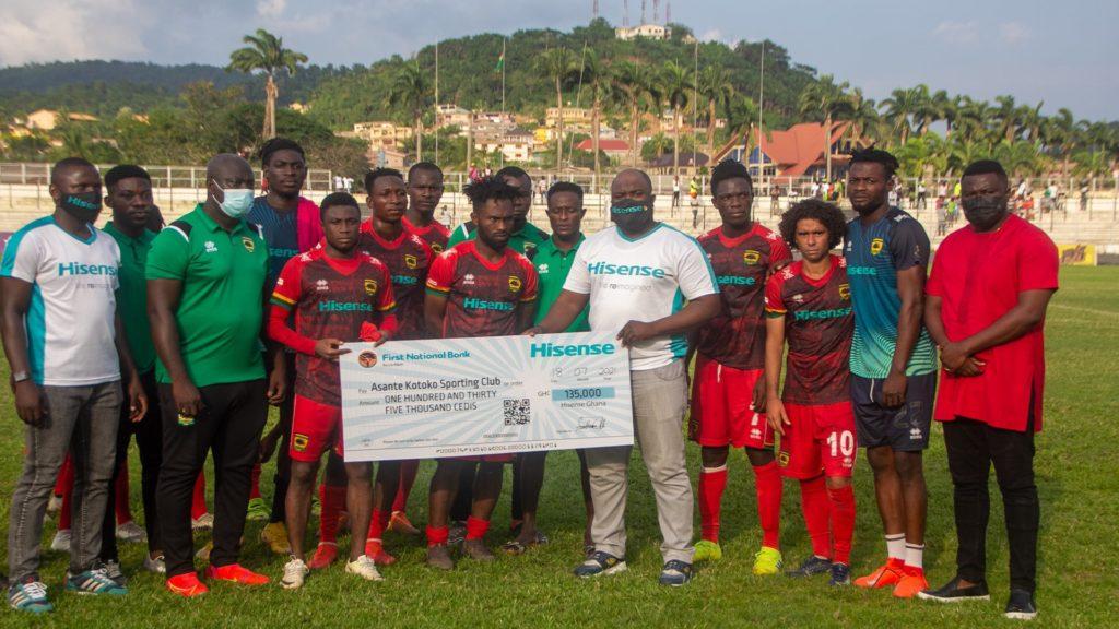 Asante Kotoko get Ghc 135,000 reward package from sponsors Hisense