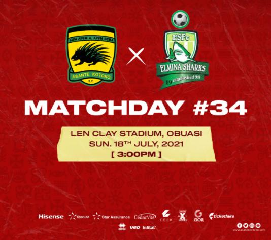 2020/21 Ghana Premier League: Live Updates- Asante Kotoko vs Elmina Sharks