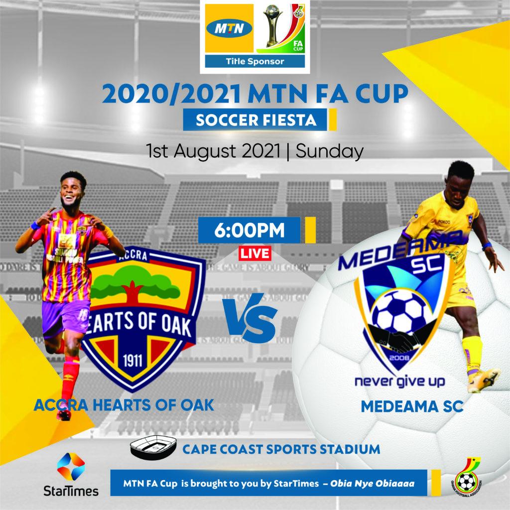 MTN FA Cup semis: Cape Coast Sports Stadium to host double-header on Sunday