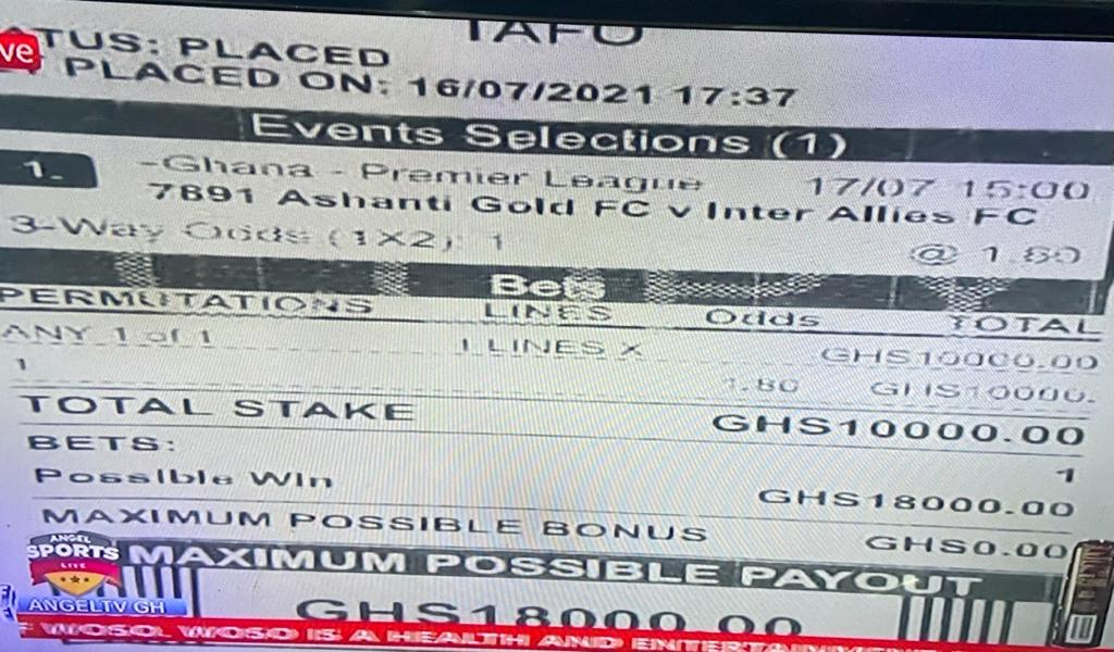 BOMBSHELL: First evidence emerges on massive bets placed on AshGold v Inter Allies clash.