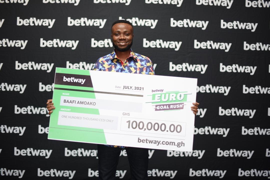 Winner of Betway's Euro Goal Rush promotion revealed
