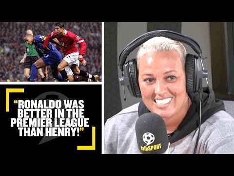 """RONALDO IS BETTER THAN HENRY!"" Lianne Sanderson & Darren Bent debate: Henry or Ronaldo? 👀"