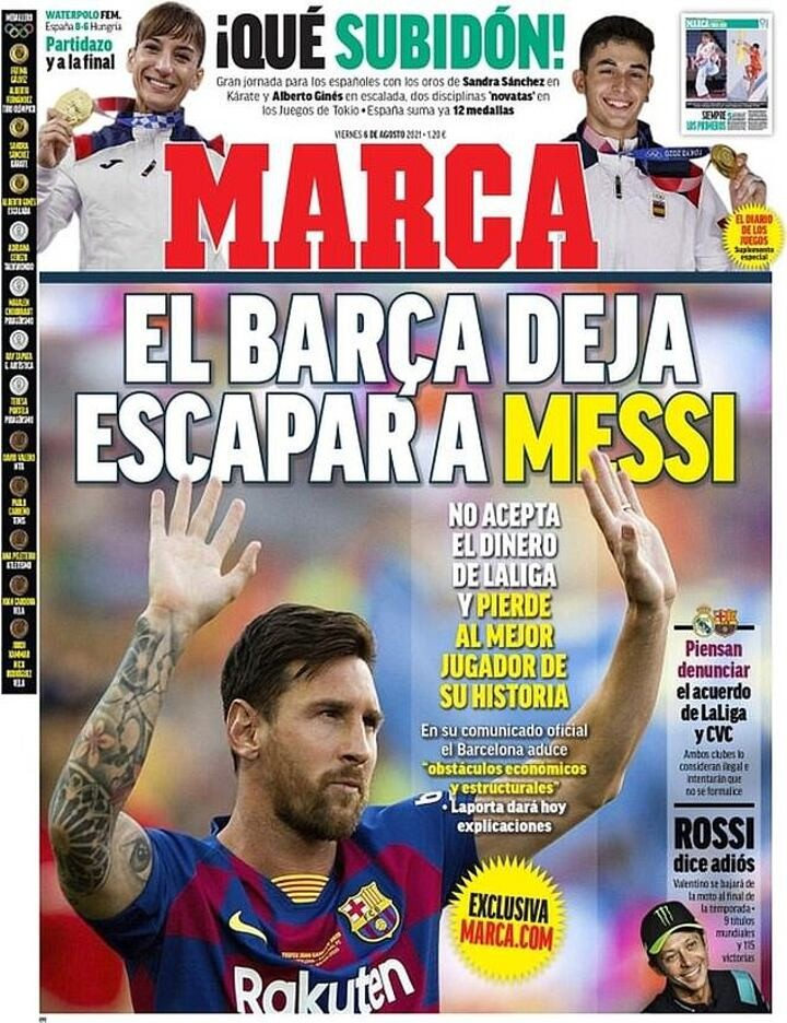 'Barca let Messi ESCAPE!': Spanish papers react to 'bombshell' news that Lionel Messi is leaving
