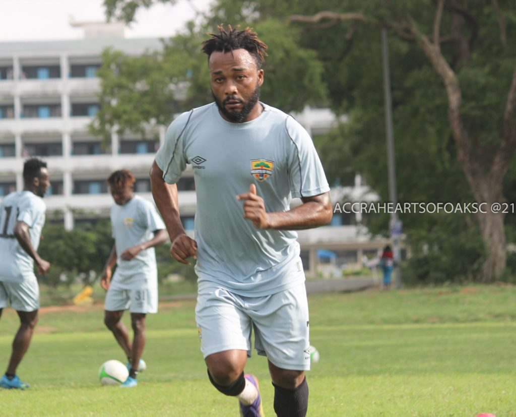 Gladson Awako is still a player of Hearts of Oak- Agent claims