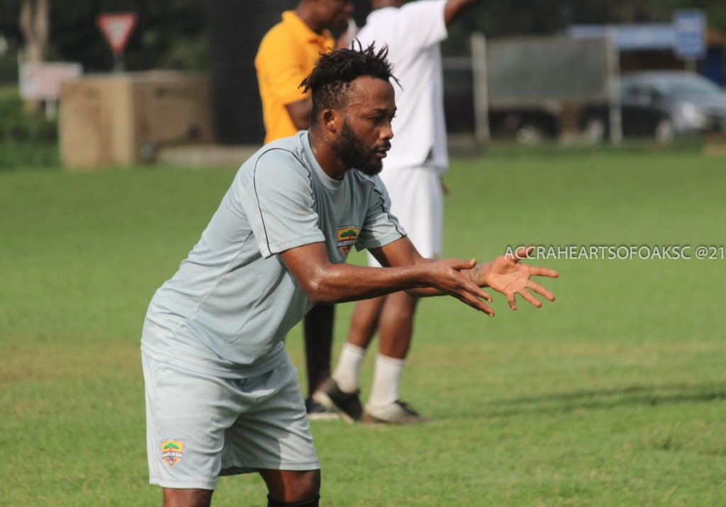 Sort out your difficulties and rejoin your teammates- Hearts release statement on Gladson Awako's absence