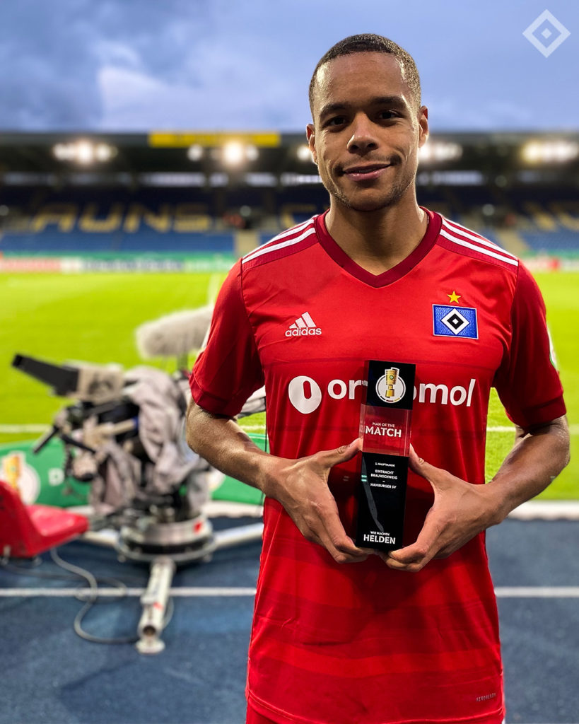 Ghanaian defender Jan Gyamerah named MoTM in Hamburg's DFB Pokal victory over Eintracht Braunschweig