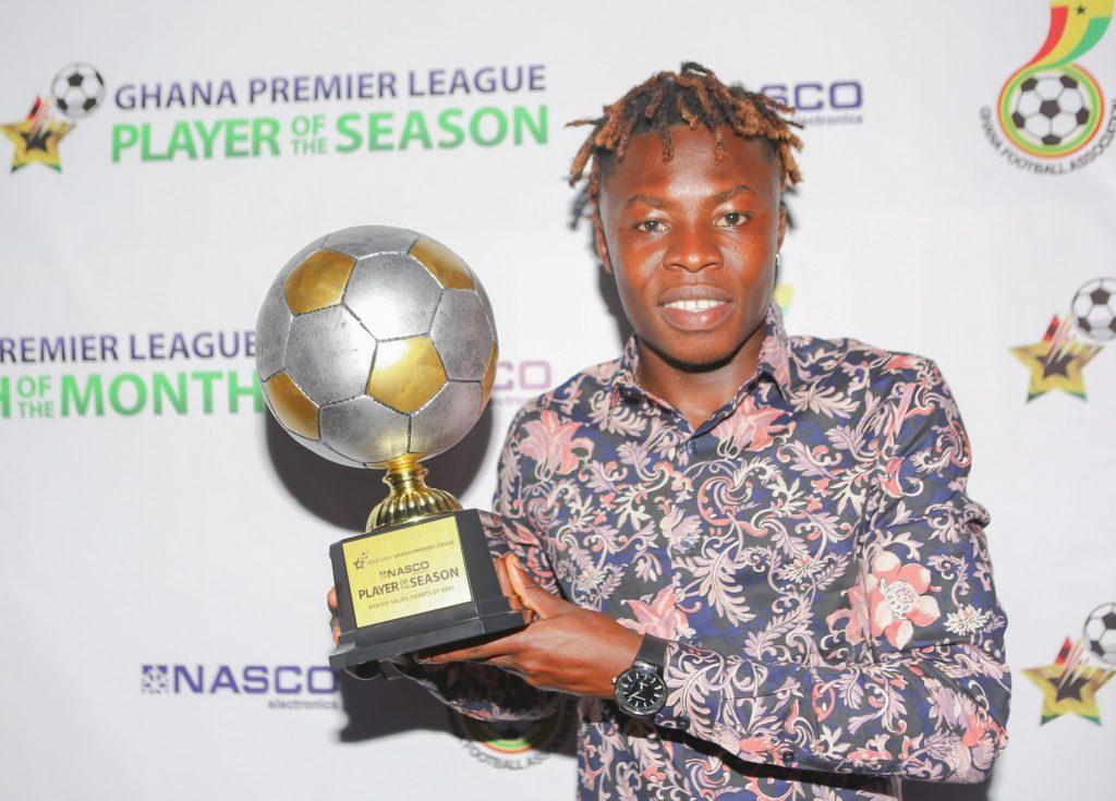 Hearts talisman Ibrahim Salifu delighted to win GPL Player of the Season