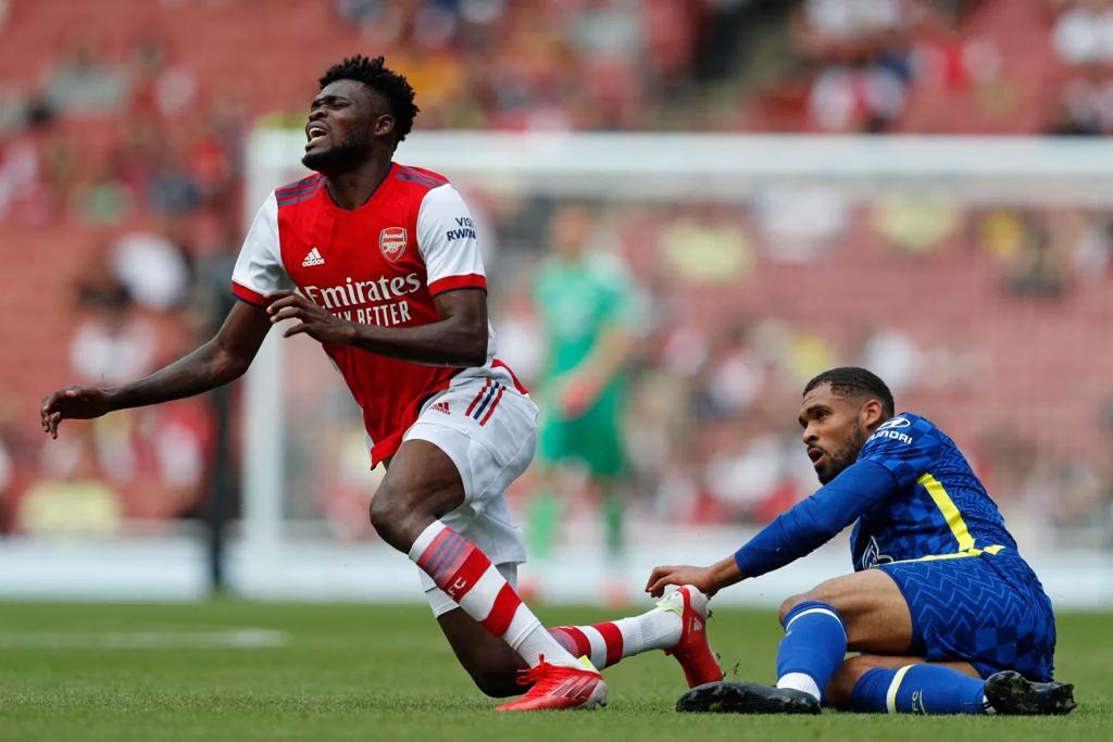 Arsenal star Thomas Partey damages ankle during friendly against Chelsea
