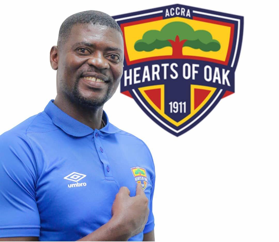 Hearts coach Samuel Boadu reacts to double winning feat
