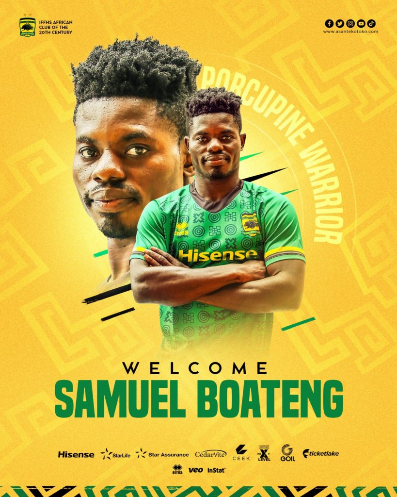 Asante Kotoko complete signing of highly-rated forward Samuel Boateng