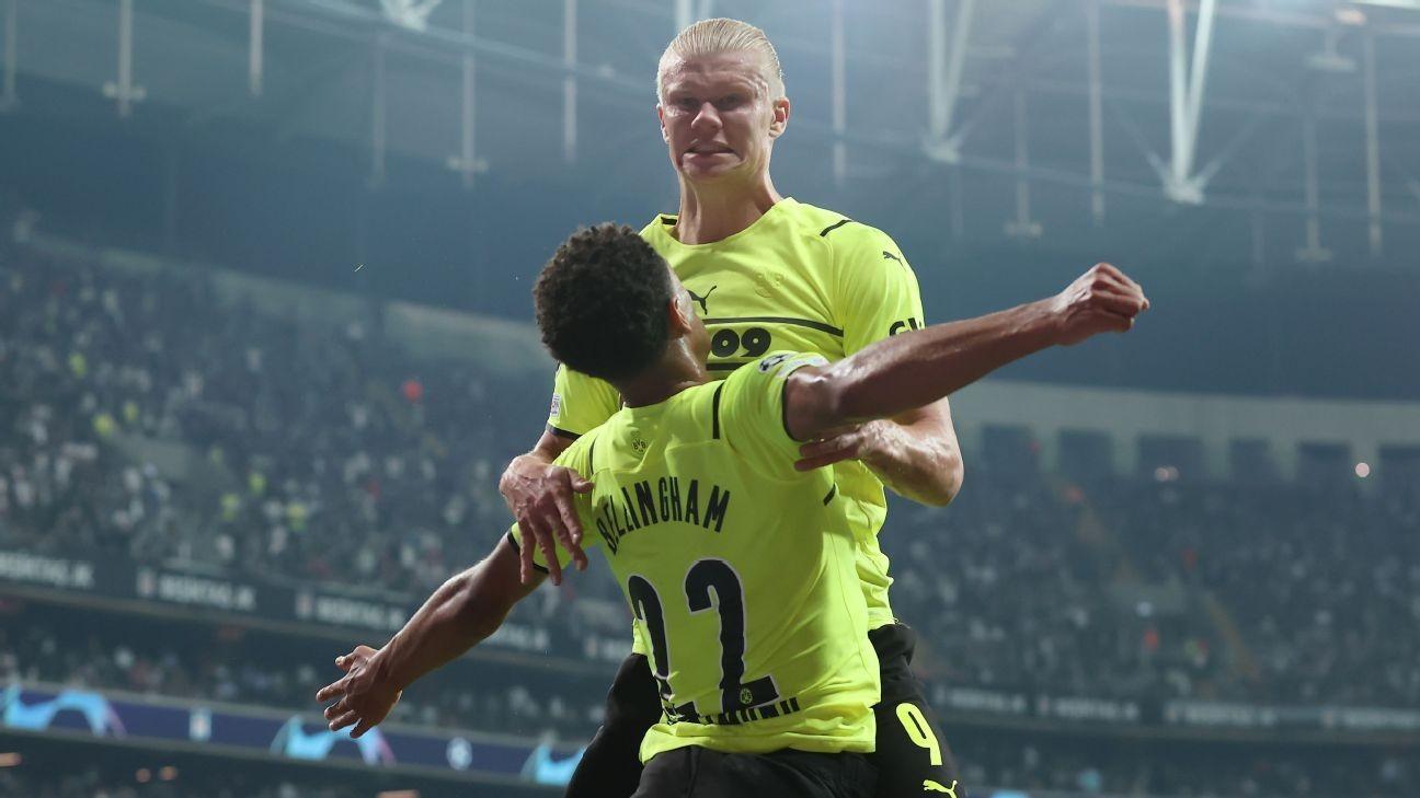 Bellingham, Haaland net in Dortmund's UCL win