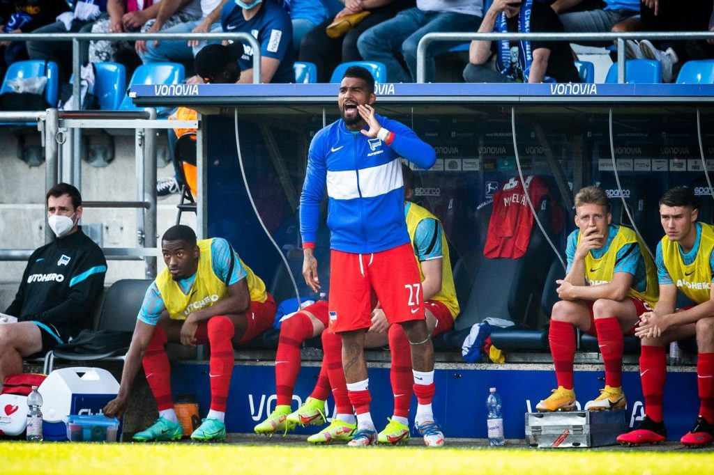 EXCLUSIVE: Ghanaian forward Kevin Prince-Boateng plays role of assistant manager at Hertha Berlin