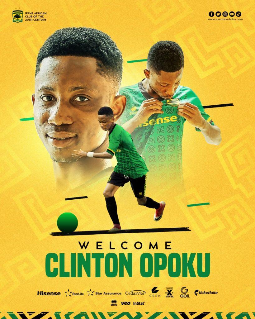 Asante Kotoko announce signing of 'Assuom Messi' Clinton Opoku