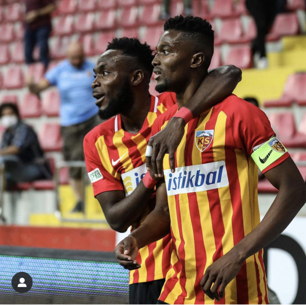 VIDEO: Watch Bernard Mensah's stunning goal for Kayserispor in win over Kasimpasa