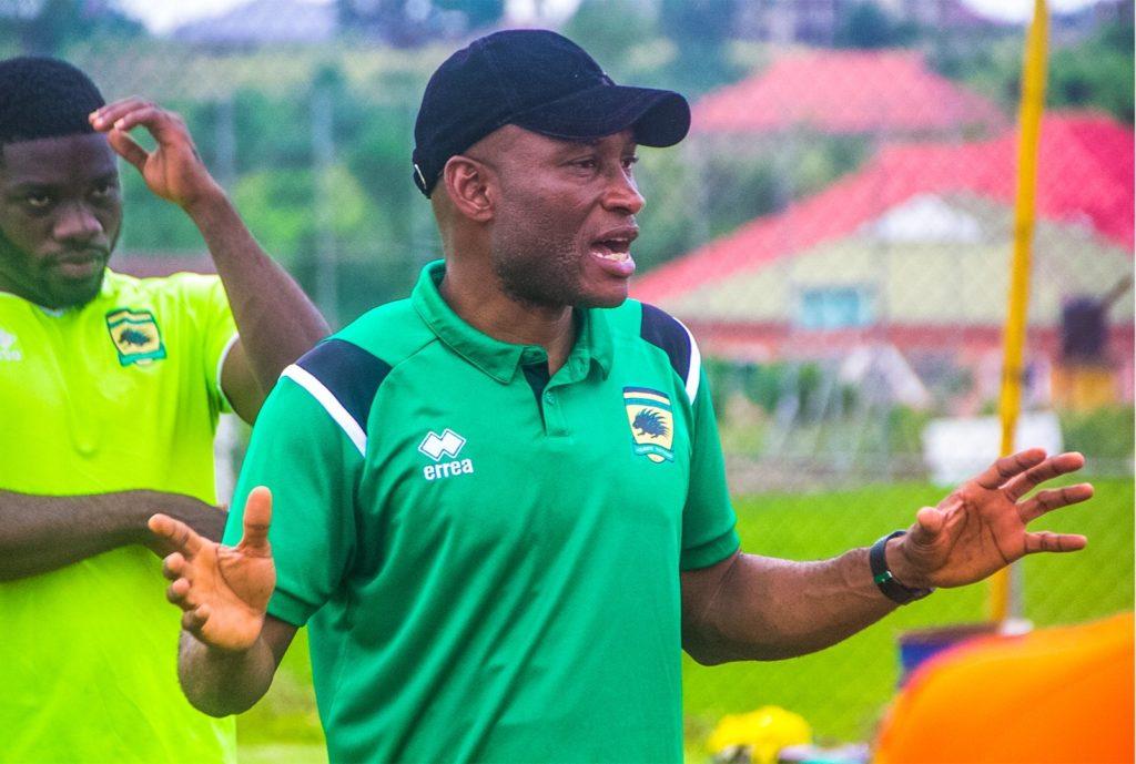 PHOTOS: Dr Prosper Narteh Ogum starts work as Kotoko coach