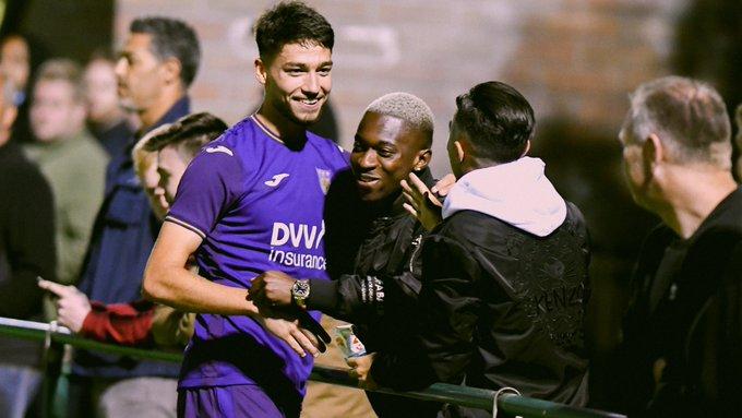 Ghanaian Francis Amuzu supports encourage Anderlecht teammate Antoine Colassin