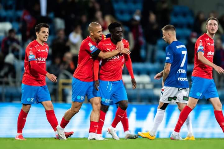 Ghanaian youngster Benjamin Acquah scores debut goal for Helsingborg in home draw against Trelleborgs