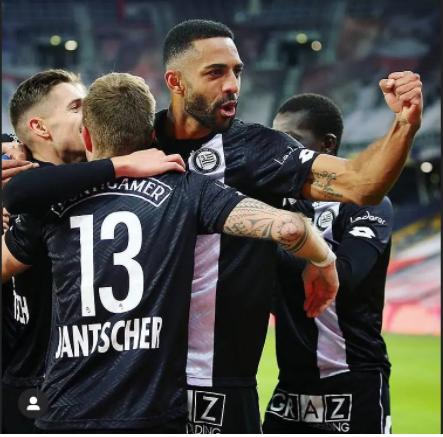 Ghanaian defender Gregory Wüthrich excels for Sturm Graz in Europa League clash against Monaco