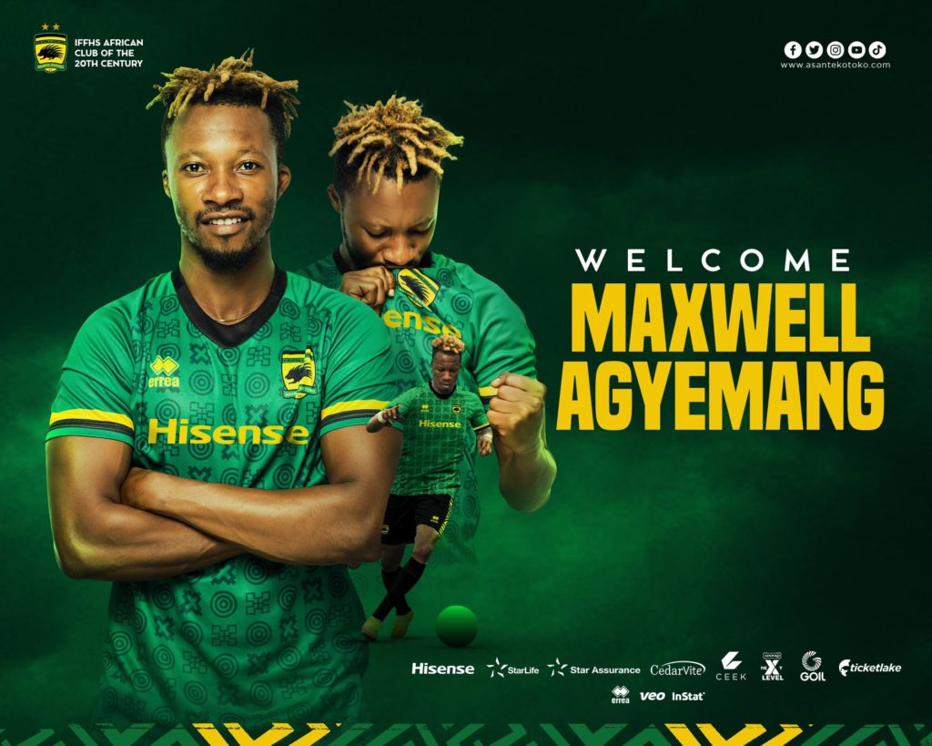 Asante Kotoko announce signing of defender Maxwell Agyemang