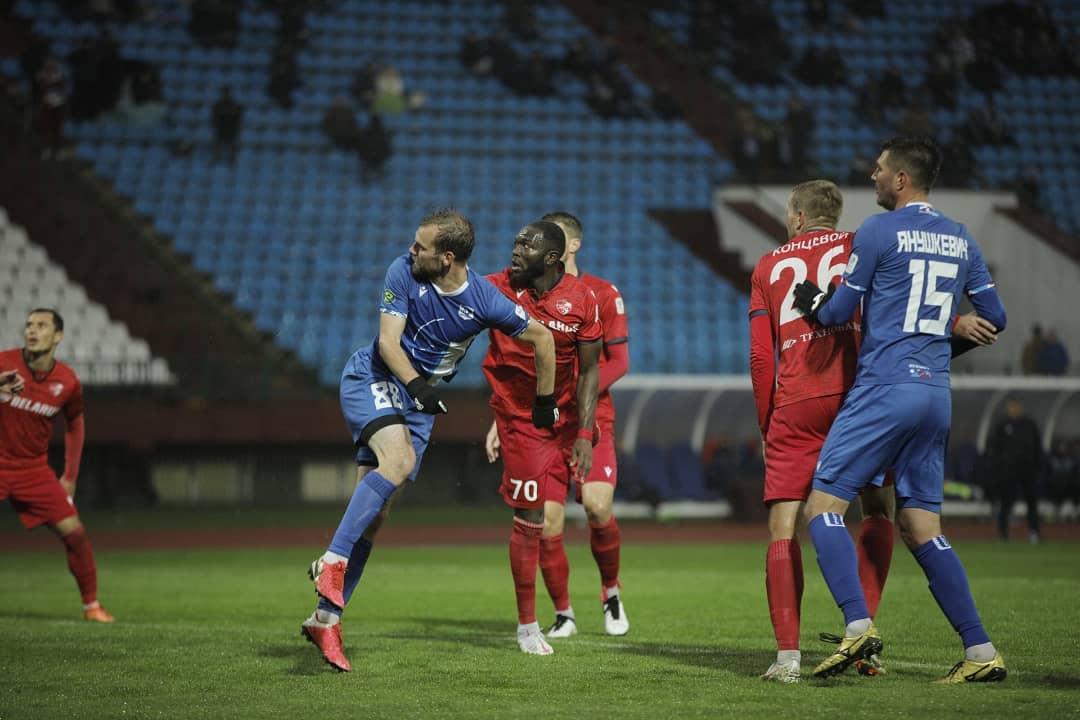 Ghanaian midfielder Sulley Muniru scores in FC Minsk's defeat to Vitebsky