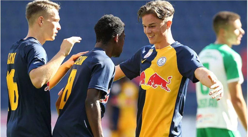 FC Liefering midfield gem Forson Amankwah nets season's first goal in Austria second-tier