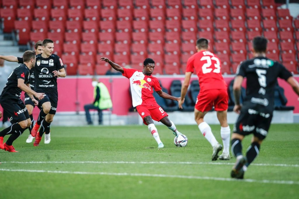 VIDEO: Forson Amankwah powers in a curler in FC Liefering come-from-behind BIG win in Austria