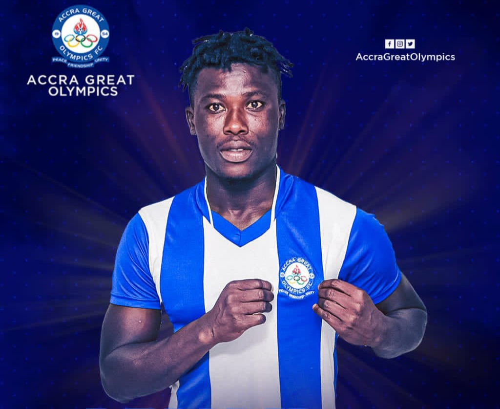 Great Olympics sign attacker Samuel Armah on a season-long loan from Inter Allies
