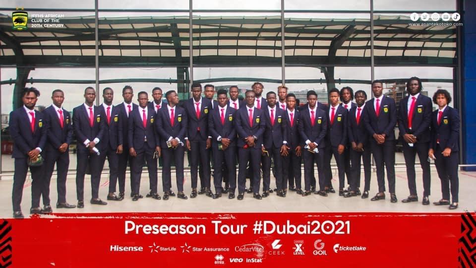 VIDEO: Asante Kotoko arrive in Dubai for preseason tour