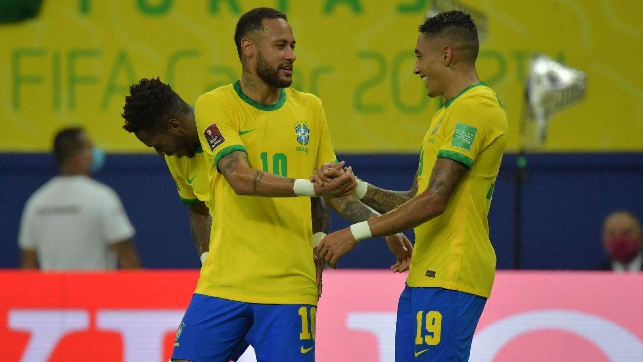 Raphinha stars as Brazil cruise past Uruguay 4-1