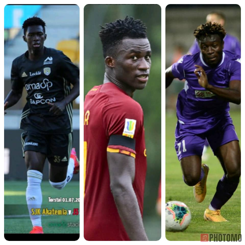 Three young Ghanaian footballers lead goal scoring charts in Italy, Finland and Serbia