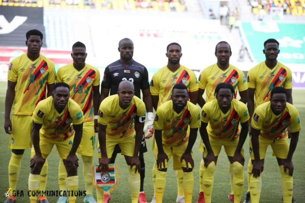 Ghana vs Zimbabwe:Warriors get their first goal of the qualifiers against Black Stars
