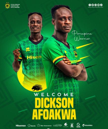 Asante Kotoko signDickson Afoakwa on three-year deal