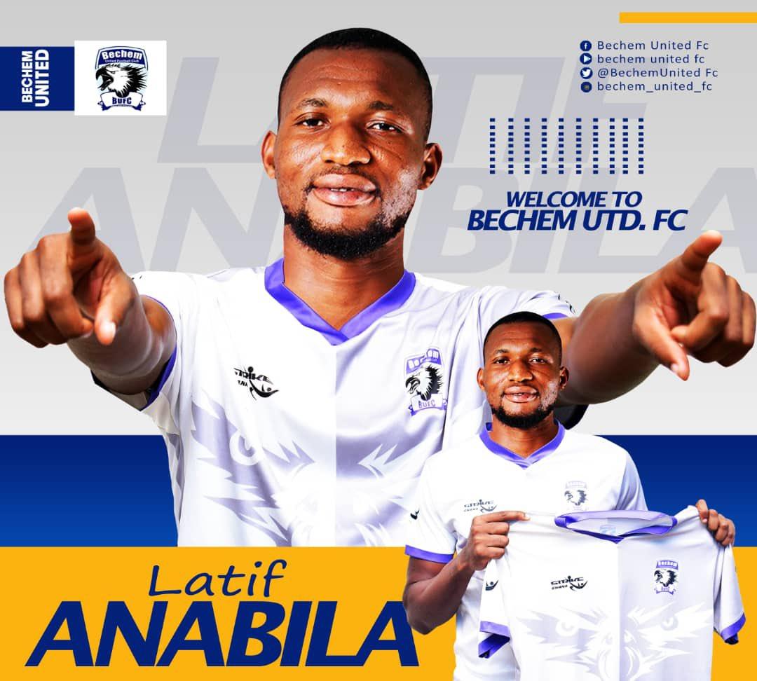 Ghana Premier League side Bechem United announce signing of Kotoko midfielder Latif Anabila