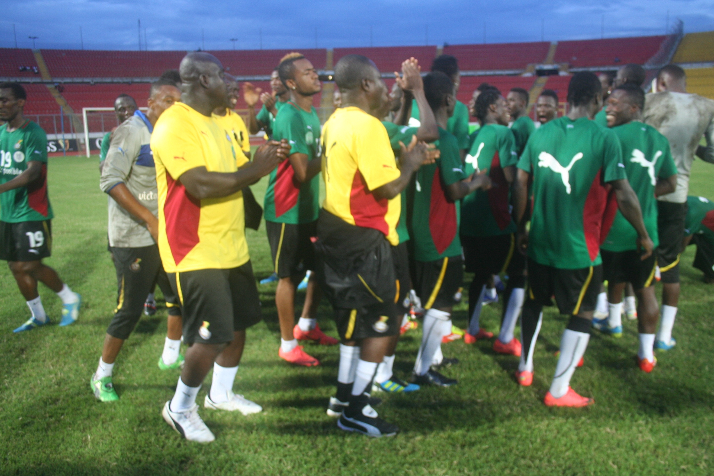Ghana finalize preparations for Lesotho clash on a high