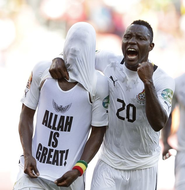 Ghana's Wakaso facing CAF ban for 'Allah Is Great' T-shirt celebration